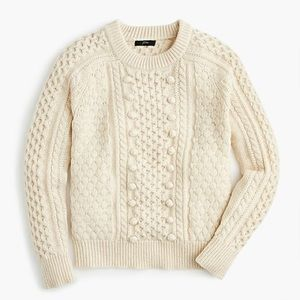 NWT J. Crew popcorn cable knit sweater